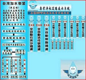 台灣加水聯盟的看板貼紙設計