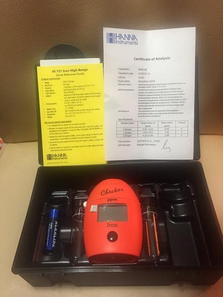 這是歐盟進口有認證的分光儀器~可以準確驗出水中的二價鐵~