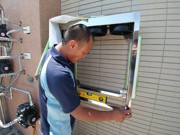 安裝小金剛全戶式過濾器第三代(全戶淨水)當天的溫度應該有35度以上